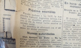 Autoridades del Club Newell's Old Boys en el año 1924